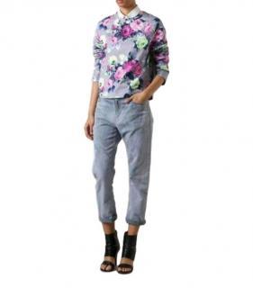 Carven Grey Floral Print Sweatshirt