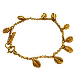Isabel Marant gold tone metal shell pendant bracelet