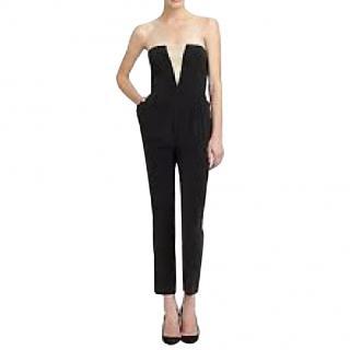 Zimmermann black silk strapless jumpsuit
