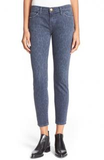 Current/Elliott Blue Leopard Print Jeans