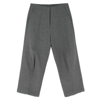 MM6 Grey Wool Blend Wide Leg Trouser