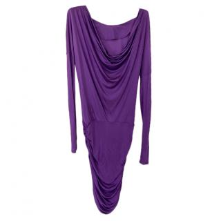 Emilio Pucci Purple Ruched Fitted Dress