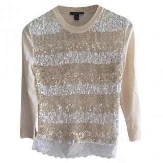 Louis Vuitton Sequin Striped Knit Jumper