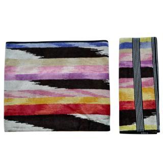 Missoni Multicoloured Cotton Bath & Hand Towel Set