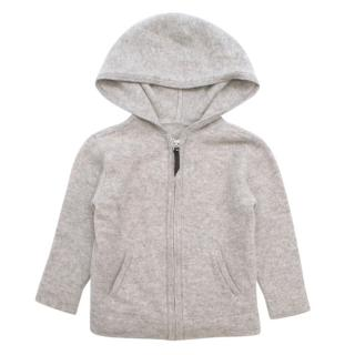 Marc Jacobs Little Grey Cashmere Zip-Up Hoodie