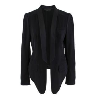 Alexander Wang Black Cropped Tuxedo Jacket