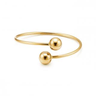 Tiffany Gold City Hardware Ball Bypass Bangle