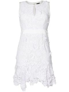 Just Cavalli Floral Broiderie Anglaise Mini Dress