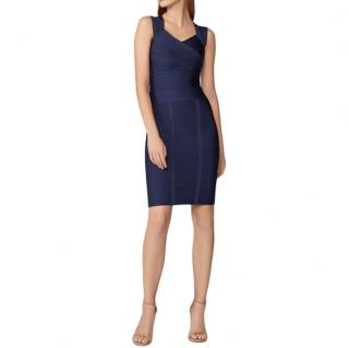 Herve Leger Navy Blue Bandage Skirt - Matching Top Available