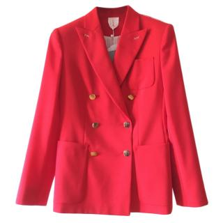 Max Mara Red Double Breasted Jacket