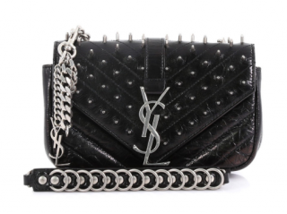 Saint Laurent Studded Classic Monogram Punk Chain Bag