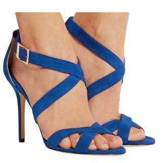 Jimmy Choo Blue Suede Sandals