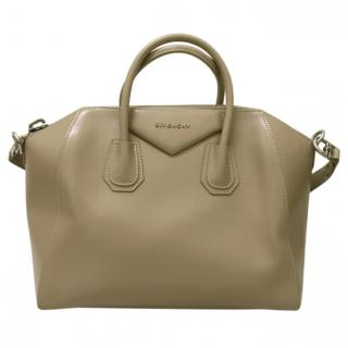 Givenchy Beige Leather Medium Antigona Bag