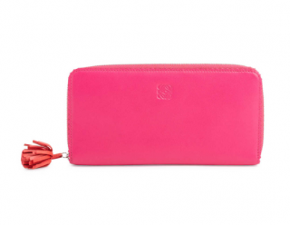Loewe Pink Logo Zip Around Wallet
