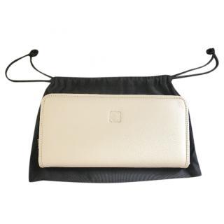 Loewe Nude Leather Zip Around Wallet