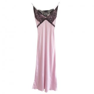 Natasha Zinko pink silk slip dress