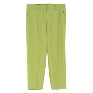 Prada Green Straight Leg trousers