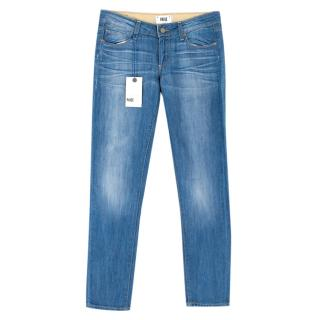 Paige Skyline Ankle Peg Mid-Rise Ankle Skinng Blue Jeans
