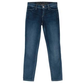 Goldsign Blue Stretch Skinny Denim Jeans