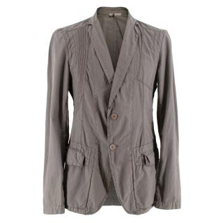 Bottega Veneta Taupe Light Weight Cotton Tailored Jacket
