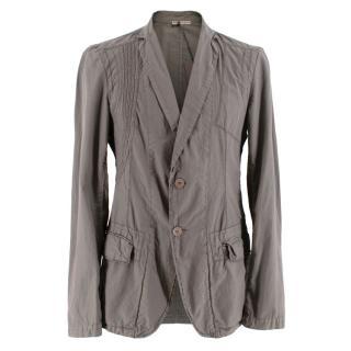 Bottega Veneta Taupe Light Weight Cotton Tailored Jacket