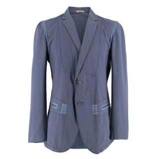 Bottega Veneta Blue Light-Weight Single-Breasted Jacket