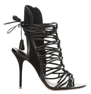 Sophia Webster Lacey Black Sandals