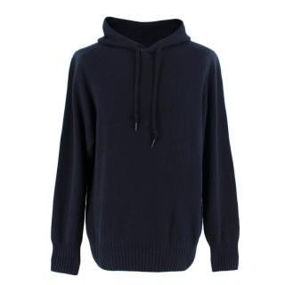 Tom Ford Navy Cashmere Hooded Sweater