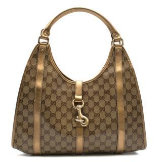 Gucci Gold Monogram Joy Shoulder Bag