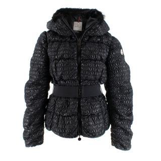 Moncler Black Apex Belted Short Down Jacket