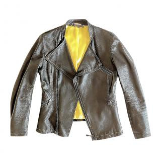 Alexander McQueen Black Smooth Leather Jacket