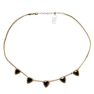 Anissa Kermiche Onyx, Agate & Diamond Necklace