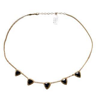Anissa Kermiche Onyx, Agate & Diamond Necklace