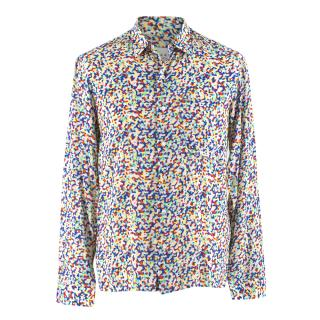 Sandro Men's Multicoloured Button-Down Shirt