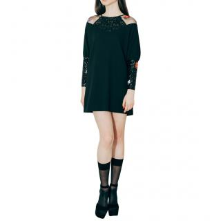 Zayan The Label Juno Black Embellished Sequin Dress
