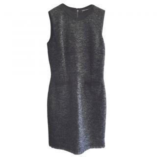 Dolce & Gabbana Grey Wool Sleeveless Dress