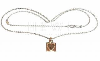 Eins Berlin Rose Gold Plated Heart Pendant Necklace