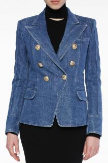 Balmain Denim Double Breasted Jacket