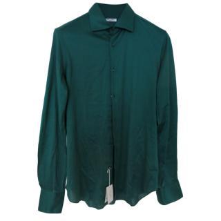 Cesare Attolini Green Jersey Shirt