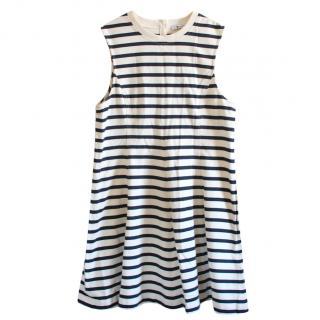 T By Alexander Wang Striped A-Line Dress