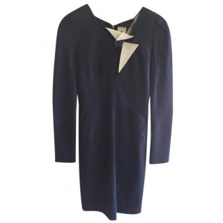 RM by Roland Mouret Blue Fitted Dress