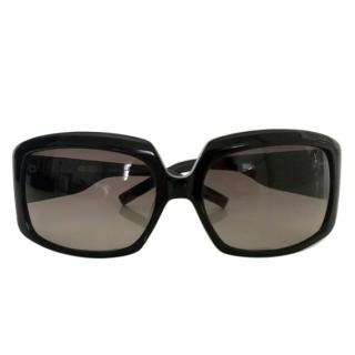 Karl Lagerfeld black square sunglasses