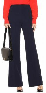 Roland Mouret Navy Wool Tailored Pants