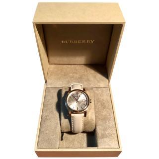 Burberry BU9100 Watch with Leather Strap