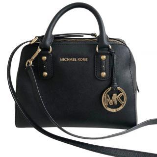 Michael Michael Kors Black Leather Small Crossbody Bag