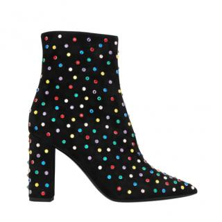 Saint Laurent Crystal Betty 95 Ankle Boots