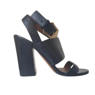 Givenchy Sara Black Leather Sandals