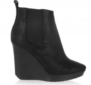 Jimmy Choo Black Britania Distressed Suede Ankle Boots