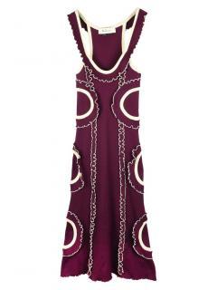Mulberry Micro Rib Knit Cornelia Dress