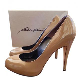 Brian Atwood Brown Patent Pumps
